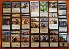 WARRIORS! * Aggro Synergy Custom Magic MTG Deck * Wizards of the Coast