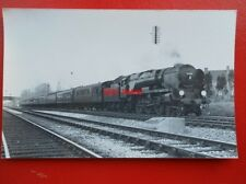 PHOTO  SR WEST COUNTRY LOCO NO 34028 EDDYSTONE 1962
