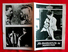 ONE DOES NOT BURY SUNDAY 1960 FRENCH BENDZ CAMPBELL CUVELIER EXYU MOVIE PROGRAM