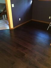 European White Oak Smoked Dark Brushed Oiled Hardwood Wood Flooring Sample