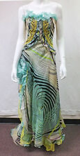 Vtg Unique Designer Christian Lacroix Side Slit Party Evening Gown Dress Size 8