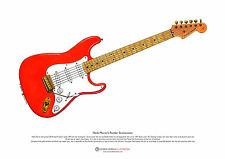 Hank Marvin's Fender Stratocaster ART POSTER A3 size