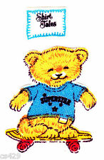 """2"""" SHIRT TALES SPORTS BEARS SUPERSTAR SKATE CHARACTER FABRIC APPLIQUE IRON ON"""