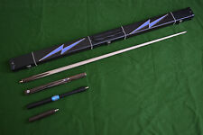 HANDMADE ROSEWOOD ASH SNOOKER/POOL CUE SET WITH CASE EXTENSION