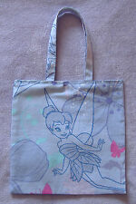 Disney Fairies Tinkerbell Childrens Cotton Shopping bag / Book bag