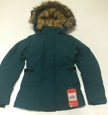 The North Face Tremaya Crop Jacket Deep Teal Blue Women's XS Down Jacket New