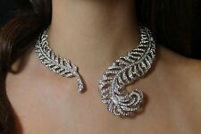 Kenneth Jay Lane Feather Necklace - Absolutely Amazing Bridal or Special Event