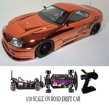 1/10 Scale  TOYOTA SUPRA- RTR Custom RC Drift -Cars  2.4Ghz & Charger orange