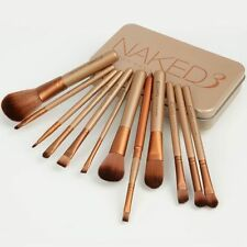 12 Pcs ! Nake3 Makeup Brush Set Cosmetic Brushes Blusher Eyeshadow Consealer Lip