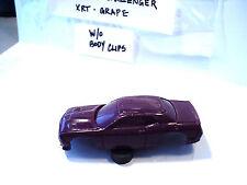 HO Slot Car Resin Body (Grape) '15 Challenger W/O Clips For 1.7 Mega G Chassis