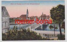 75596 Ak Blick auf Crossen a.d.O. Krosno Odrzańskie vom Kriegerdenkmal um 1910