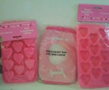 Valentine Molds Ice Cube Trays Sweetheart bag Treats Set 3 Parties Showers