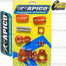 Apico Bling Pack Orange Blocks Cap Plugs Clamp Cover For KTM EXCF 350 2012-2013