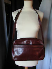 sac vintage  manfield cuir bordeaux
