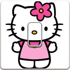 Hello Kitty Luce Interruttore Adesivo Vinile Decalcomania Camera da letto per bambini #175