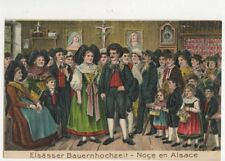 Elsaesser Bauernhochzeit 1918 Embossed Postcard Germany 395a