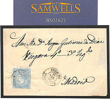 MS1621 1865 SPAIN Classic Imperf Local Mail Plasencia Caceres Lovely clean E