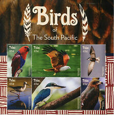 Palau 2015 MNH Birds of South Pacific 6v M/S Parrots Birds of Prey Tern Stamps