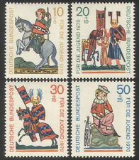 Alemania 1970 welfare/horses/music / knights/armour/singing / animales 4v Set (n39105)