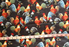"""100% Cotton Fabric """"Country Kitchen"""" by Windham Fabrics, Roosters"""
