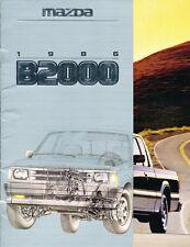 1986 Mazda B2000 Truck 20-page Original Canada Car Sales Brochure