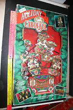 Holiday Carousel Musical Animated 6 horse 21 Songs Mr Christmas