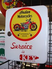 CLASSIC INDIAN MOTORCYCLE  1950S GAS OIL SERVICE STATION KEY BOX NEW