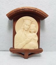 """VINTAGE 1954  """"OUR LADY OF THE SACRED HEART""""  WALL SHRINE"""