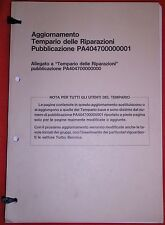 Alfa Romeo European Factory Maintenance Update Manual For 164