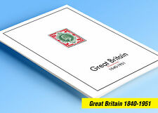 COLOR PRINTED GREAT BRITAIN [CLASS.] 1840-1951 STAMP ALBUM PAGES (25 ill. pages)