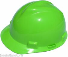 MSA HI VIZ LIME V-Gard Cap Style Safety Hard Hat Ratchet Suspension NEW