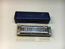 """Hohner 532/20 MS A Blues Harp ZAS Harmonica """"A"""" Original Case Made In Germany"""