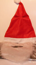 Deluxe Santa Hat with Moustache & Beard Mens Fancy Dress Christmas Costume Acces