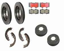 Toyota Tacoma 05-12 Front Brake Rotors w/Pads Brembo Rear Brake Drums w/ Shoes