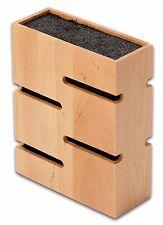 Grunwerg Madera de Bambú bloque para cuchillos Cuadrado Universal de fibra para la mayoría de cuchillos
