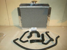 Escort Mk1 Mk2  Alloy Twin Core Radiator Straight Top Hose X Flow Pinto Package