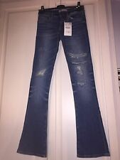 Zara Blue Wide Leg Women's Jeans Size 6 NEW