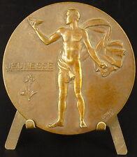 Médaille  allégorie de la jeunesse force amour allegory of youth strength Medal