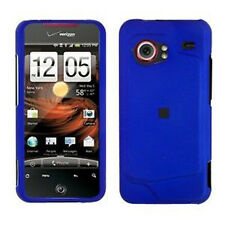 For HTC Droid Incredible Rubberized Hard Case Snap on Phone Cover Rubber Blue