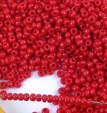 11/0 Fine Japanese TOHO Round Seed Glass Beads Opaque Cherry 15g