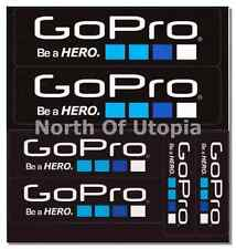 12 Genuine GoPro Be A Hero Self Adhesive Vinyl Sticker Decals - EACH SIZE LISTED