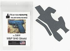 Gray Tractiongrips grip tape overlay for S&W M&P Shield 9mm, .40 caliber grips