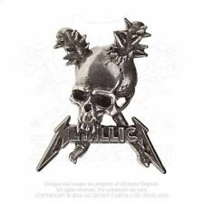 ALCHEMY ROCKS - METALLICA - DAMAGE INC. SKULL PEWTER PIN BADGE METAL HETFIELD