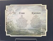 Personalized Double Name Meaning Gift w Mat Anniversary, Wedding Christmas Gift