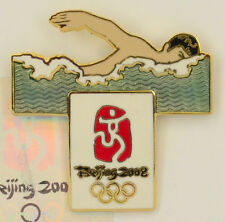 Olympic Souvenir Pin 2008 Beijing Swimming Collectible Sports Memoribilia