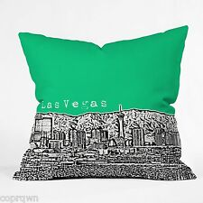 "DENY Designs Bird Ave Las Vegas Green In/ Outdoor Pillow 26"" NWT!"