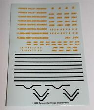 N Scale Train Accessory - Lot of 10 - Decal - Florida Midland, Central, Northern