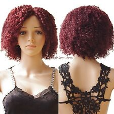 US Afro Curly Lace Front Wigs Synthetic Hair Wig For Women Black Short Bob Wig 8