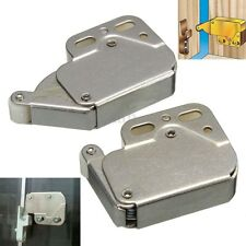 2x Tip Catch Spring Loaded Cupboard Caravan Door Cabinet Boat Latch Lock Kit Set