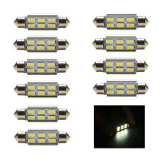 10 Pcs 36mm 12V 5730 6 LED C5W Festoon Canbus Error Free Interior White Bulbs